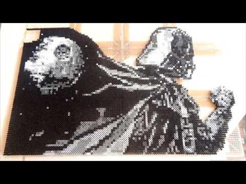 Pixel Art Dark Vador Létoile De La Mort Par Pixel Art