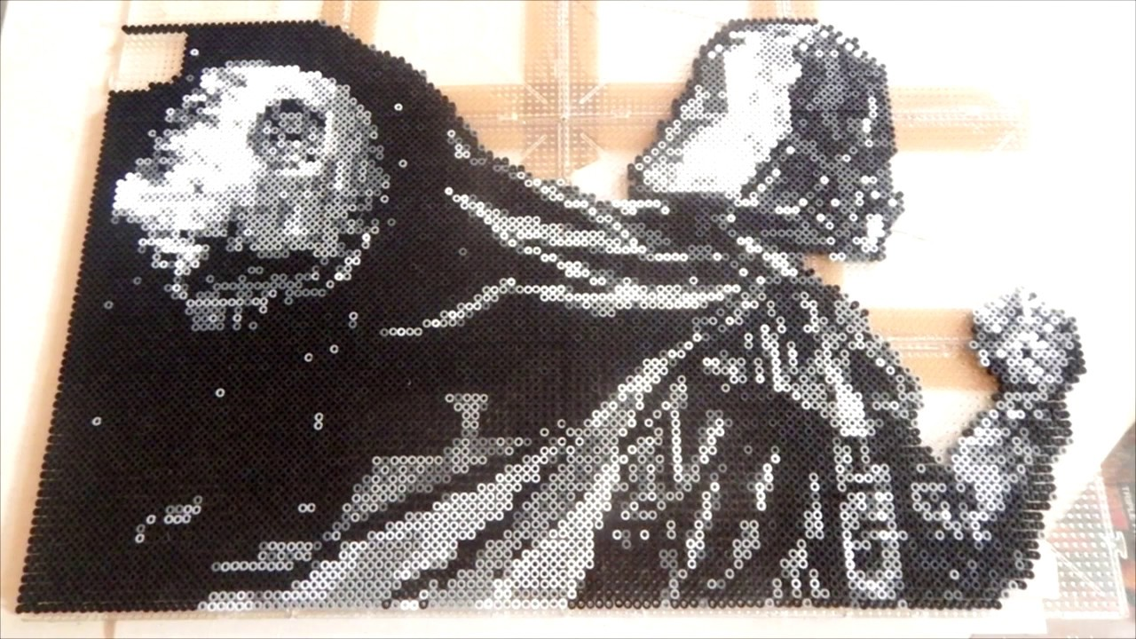 Pixel Art Dark Vador Létoile De La Mort Youtube
