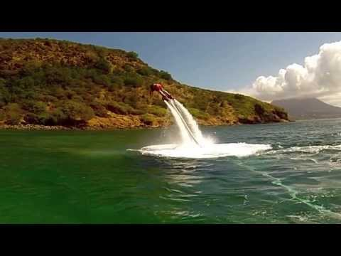 St Kitts flyboarding with the Helgens