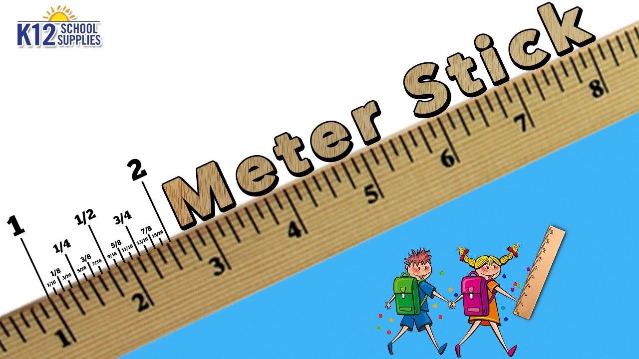 Best Meter Stick - Wooden Meter Ruler - Math Supplies