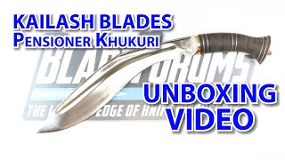 Kailash Blades Pensioner Unboxing - BladeForums.com 20th Anniversary Year of Giveaways