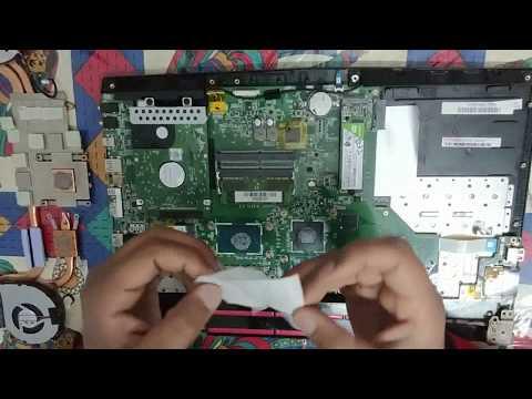 How to apply thermal paste on CPU and GPU units of MSI laptop