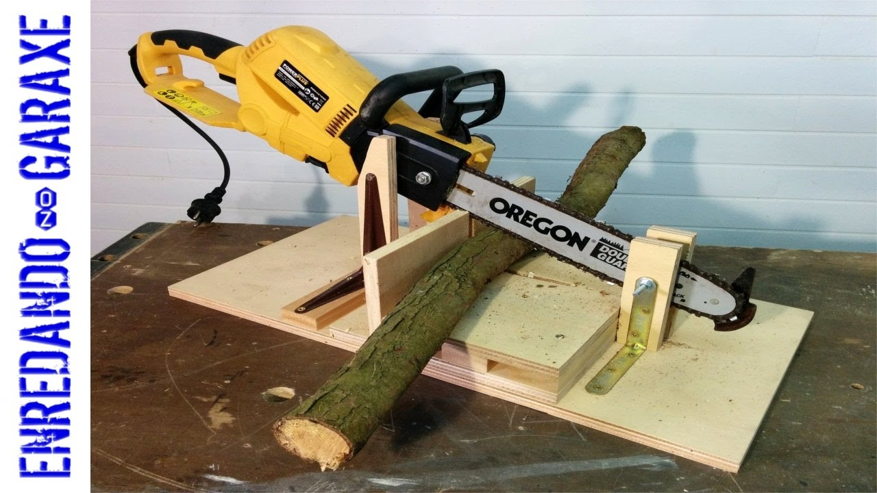 Chainsaw branches cutting jig - YouTube