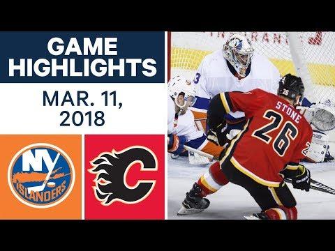 NHL Game Highlights | Islanders vs. Flames - Mar. 11, 2018