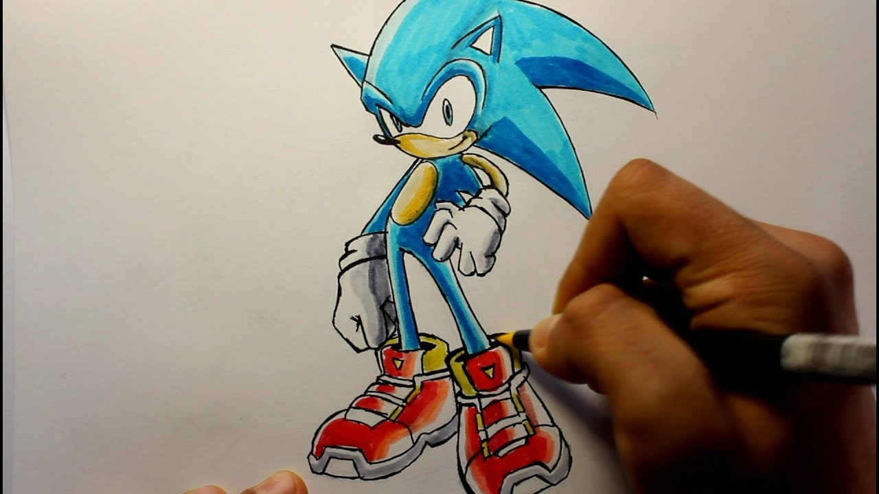 Wie zeichnet man Sonic the Hedgehog - YouTube
