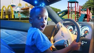 Super Siah Takes Daddy's Car To Drives To The Park!