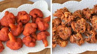 ফুলকপির পাকোড়া ২ ভিন্ন স্বাদের/পাকোড়া রেসিপি/Cauliflower Pakora/Fulkopir Pakora/Gobi Pakora/Pakora