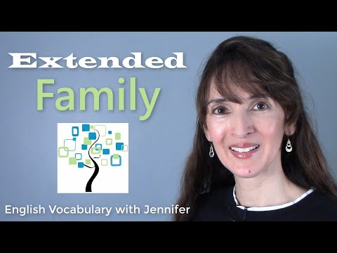 Extended Family vs. Immediate Family ?? English Vocabulary with Jennifer