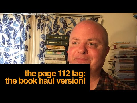 THE PAGE 112 TAG - THE BOOK HAUL VERSION!