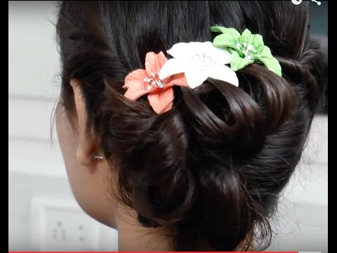 Universal Asian Indian Messy Hair Style Tutorial Youtube