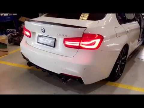 BMW 330i M Sport F 30 LCI Sedan| ARMYTRIX Exhaust | Loud Revs Sound Test Review 2017 2018 - YouTube
