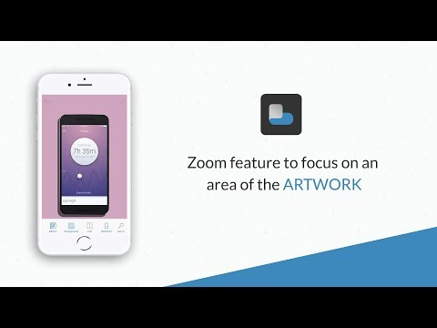 Zoom feature to focus on an area of the artwork | AppWrap : Generate Device Art