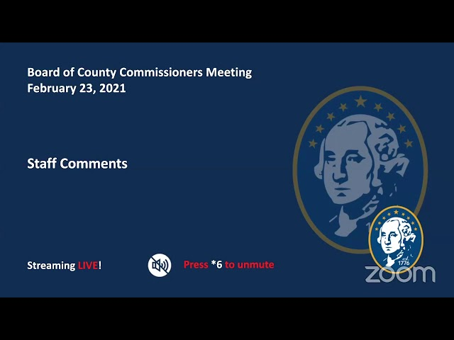 Washington County Board of Commissioner's Meeting 2/23/21