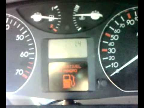 Renault Laguna II - Dashboard Self-test