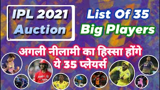 IPL 2020 - First List Of 35 Big Players For Next IPL Auction | MY Cricket Production