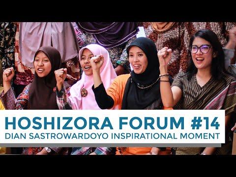 Dian Sastrowardoyo Inspirational Moment at HoshiZora Forum 2014