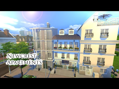 The Sims 4: Speed Build | Newcrest Apartments (Part 2)