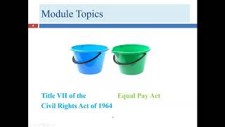 First Lecture for Module 8 Gender Discrimination (Employment Practices and Law)