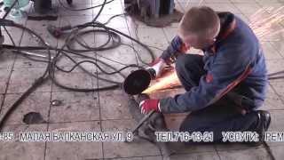 Замена 2 -х  катализаторов  на пламегасители  на Skoda Octavia. Замена катализатора в СПБ.