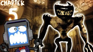 Boss Fight! CHAPTER 5 Bendy and The Ink Machine Gameplay ft. FANDROID The Musical Robot (Part 2)