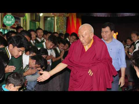 His Eminence Prof. Samdhong Rinpoche visits Tibetan Homes Foundation Mussoorie