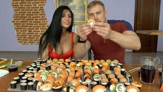 130 Суши/Роллов ЗА РАЗ. CheatMeal Challenge 3. 130 Sushi.