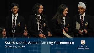 Middle School Closing Ceremonies 2017
