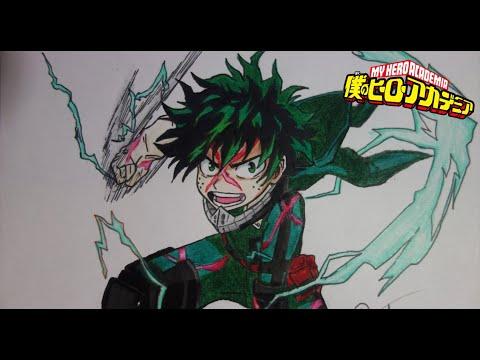Como Dibujar A Deku Izuku Midoriya Boku No Hero Academia How To Draw Deku My Hero Academia