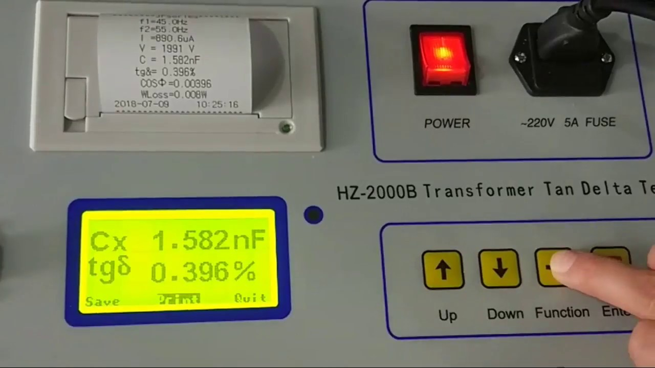hight resolution of hz 2000b transformer tan delta tester from huazheng electric