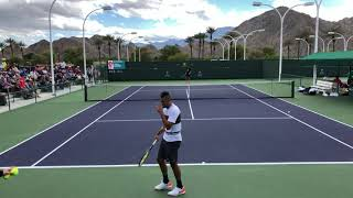 Nick Kyrgios - Jeremy Chardy (4k 60fps) Indian Wells Practice 2019