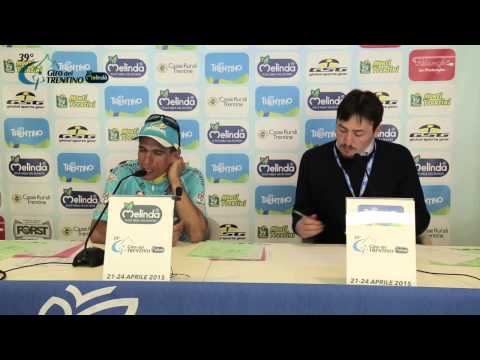 Giro del Trentino Melinda 2015: Paolo Tiralongo's press conference April 24th