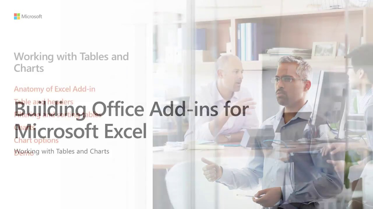 Build Office add ins for Microsoft Excel