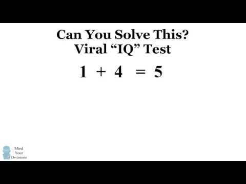 Can You Solve The Viral 1 + 4= 5 Puzzle The Correct Answer