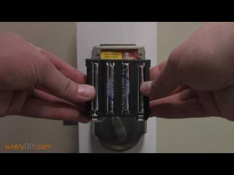 How to Replace the Batteries on a Kwikset Z-wave Deadbolt