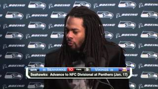 Richard Sherman on the Cold Weather: 'My Contacts Lenses Almost Froze' | Seahawks vs. Vikings | NFL