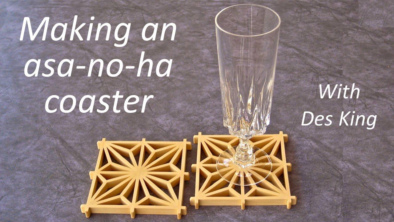 Shoji And Kumiko Patterns 04 Making An Asanoha Coaster Youtube