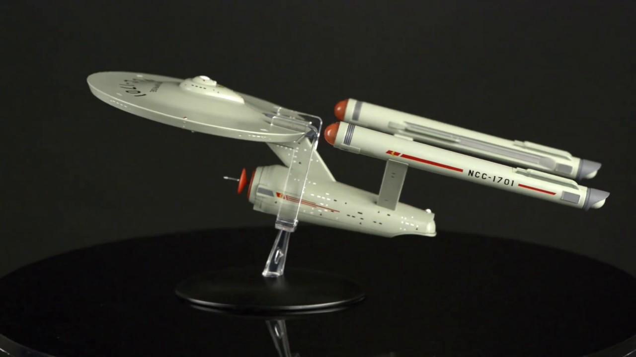 Star Trek U.S.S Enterprise NCC-1701 11 inch Starship Model - YouTube