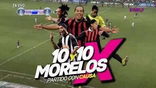 Partido con causa #10y10xMorelos en el Estadio Agustín Coruco Díaz , a beneficio del @DIF_Morelos
