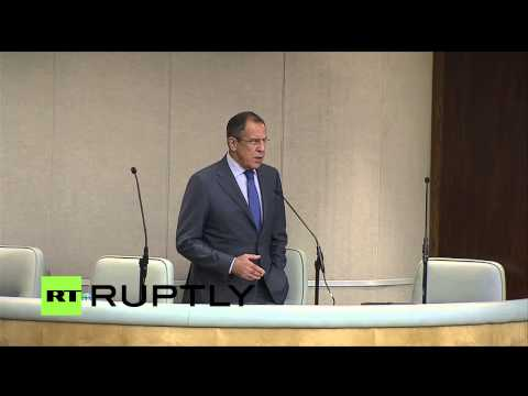 LIVE: Lavrov speaks at State Duma plenary meeting in Moscow