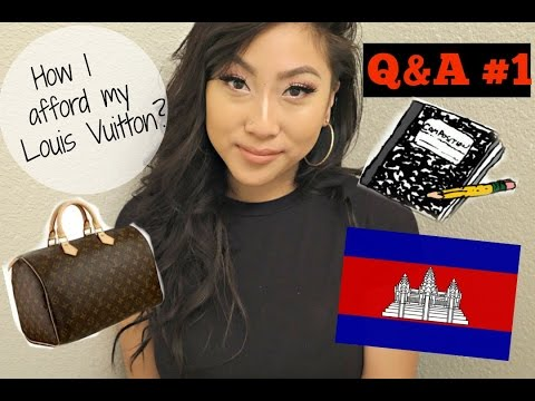 Q&A #1: How I AFFORD MY LOUIS VUITTON BEING A COLLEGE STUDENT?!| Ethnicity, College Major & More!