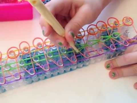 How To Make A Double Rainbow Loom Bracelet 6 Rows Youtube