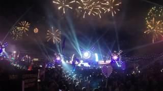 edc las vegas 2017 zomboy crazy fireworks show bass pod