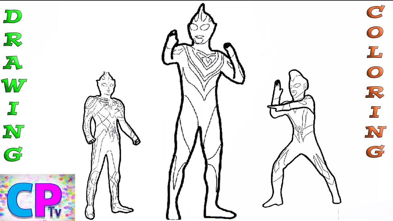 Ultraman Drawing and Coloring Pages,Ultraman Berserker,Ultraman Scott Live 2,Ultraman Legend