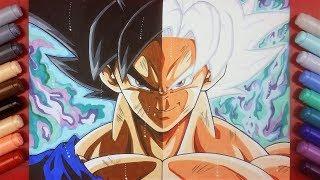Drawing goku perfected ultra instinct videos drawing goku perfected ultra instinct clips - Goku ultra instinct sketch ...
