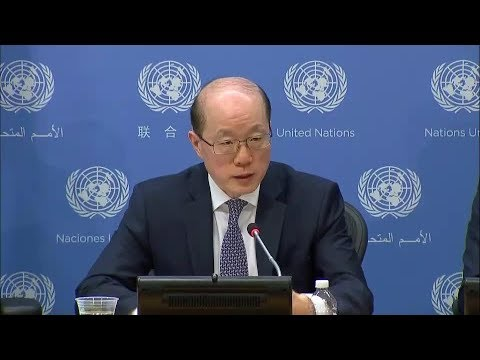 SC President (China) on D.P.R. Korea, Palestine & other topics - Press Conference (31 July 2017)