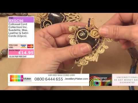 [How to make Sari Ribbon and Lace Jewellery] - JewelleryMaker DI 16/12/14