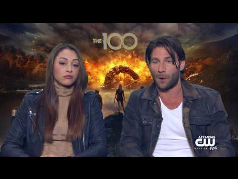 """Interview with Lindsey Morgan & Zach McGowan of """"The 100"""""""