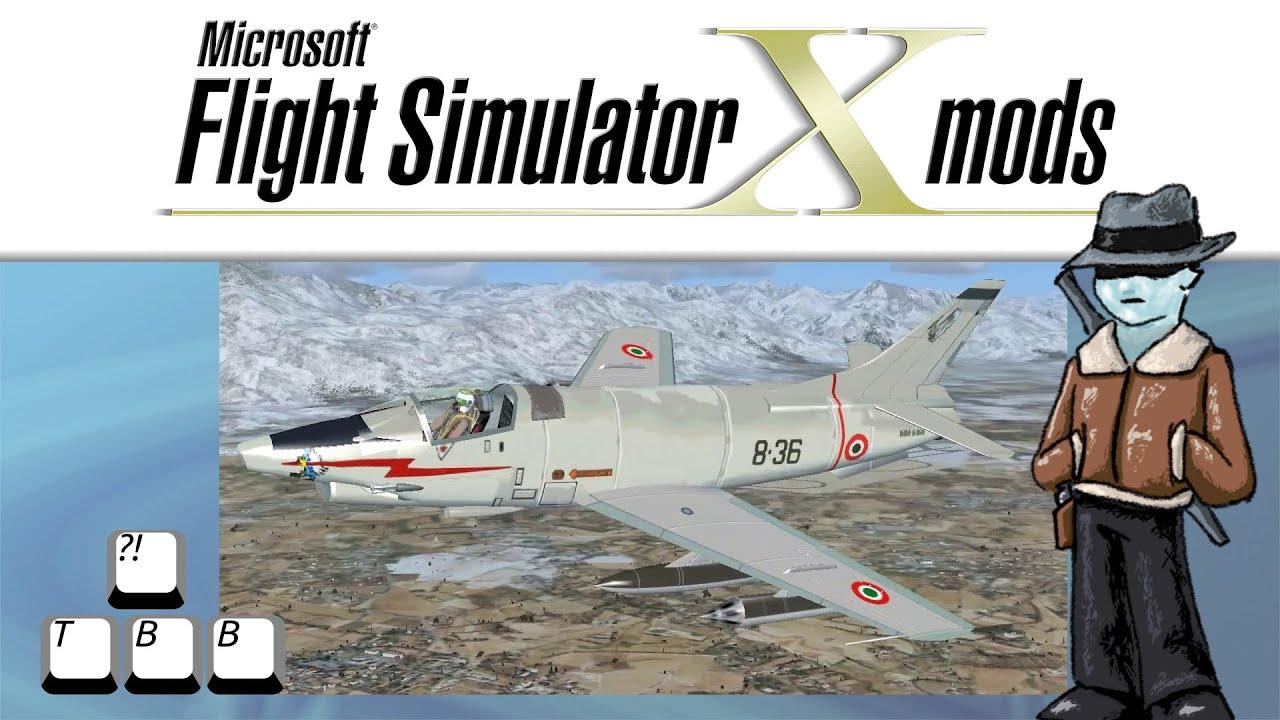 Flight Simulator X Plane Spotlight - Fiat G.91 - YouTube