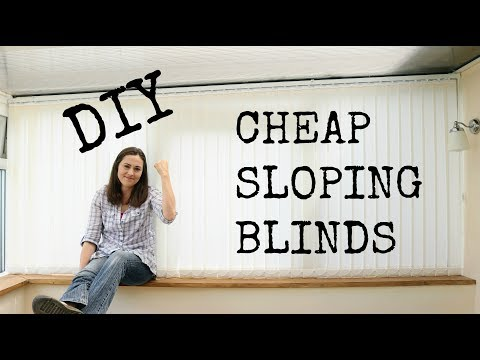DIY Cheap Sloping Conservatory Vertical Blinds | The Carpent
