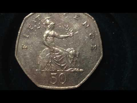 50 Pence Coin 1997 United Kingdom
